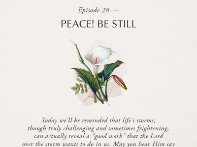 Ep 28: Peace! Be Still